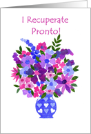 Bouquet of Flowers Get Well Card, Spanish card