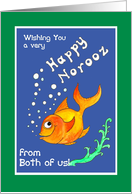 Norooz Goldfish, 'From both of us' Card