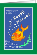 Norooz Goldfish Card. From Our Home to Your Home card