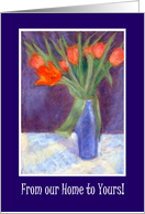 Red Tulips Norooz Card, from Our Home to Yours card