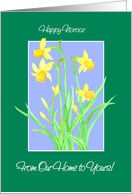 Daffodils Norooz Card, From Our Home to Yours card