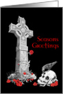 Gothic Christmas Card on Black card