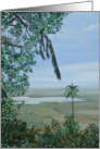 Ngorongoro crater - an oil painting of the crater in Africa card
