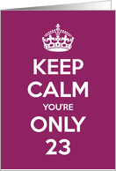 23rd birthday cards from greeting card universe keep calm youre only 23 birthday card m4hsunfo