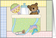 Sweet Teddy Diaper Bag card