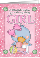 Birdie Girl card