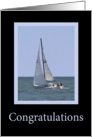 Congratulations on your achievement - Sailboat card