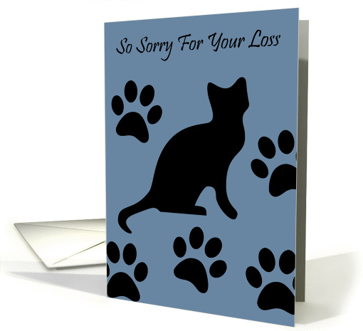 So Sorry For The Loss of Your Cat - Paw Prints card (1111878)