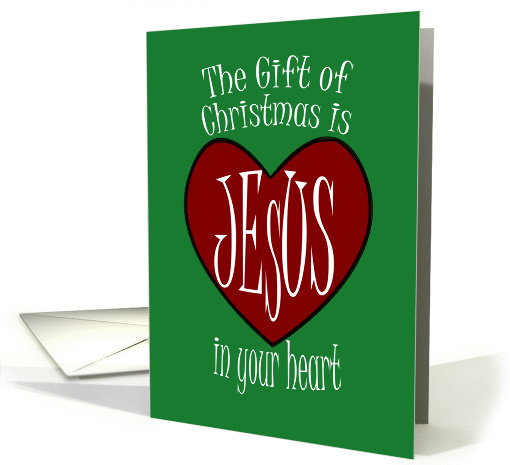 Merry Christmas - Jesus In Your Heart card (1164260)