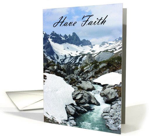 Have Faith - Swiss Alps card (1449926)