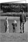Happy Father's Day To Husband, Man & Kids by Water card