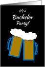 Invitation Gay Bachelor Party Grooms Toasting Beer Mugs card