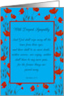 Sympathy GrandMother Religious Scripture Revelation in Red Poppy Frame card