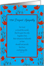 Sympathy Grandfather Religious Scripture John 3:16 in Red Poppy Frame card