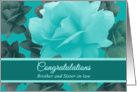 Congratulations Wedding for Brother Beautiful Vintage Style Roses card