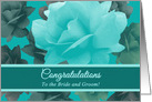 Congratulations Wedding Granddaughter Beautiful Dreamy Style Roses card