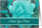 Thank You Mom Wedding Support Beautiful Vintage Style Roses card