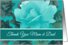 Thank You Parents Wedding Support Beautiful Vintage Style Roses card