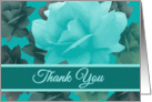 Thank You Wedding Attendants Beautiful Vintage Style Roses card