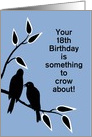 Custom Age Birthday Humor Silhouetted Black Crows in Tree card