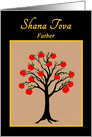 Father Rosh Hashanah Jewish New Year Apple Tree of Life card