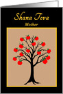 Mother Rosh Hashanah Jewish New Year Apple Tree of Life card