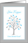 Friend Yom Kippur Tree of Life w Hebrew Blessing card