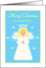 Christmas, Custom Relation, Sweet Child Angel with Stars card