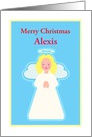 Christmas Personalized Name Sweet Child Angel with Stars card