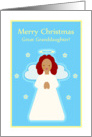 Great Granddaughter Christmas Sweet Child Angel with Stars card