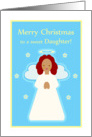 Christmas for Daughter Sweet Child Angel with Stars card