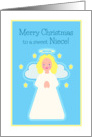 Christmas for Niece Sweet Child Angel with Stars card