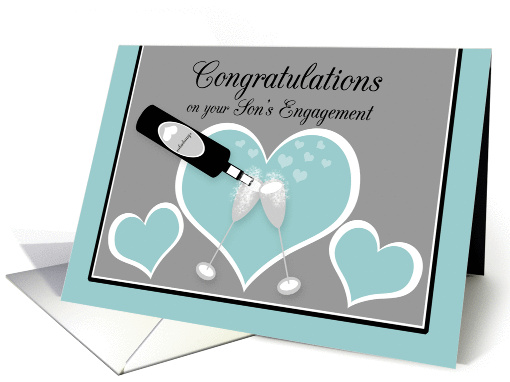 Congratulations Engagement Parent's of Groom Champagne Toast card