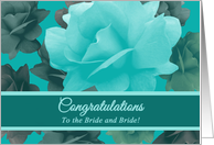 Congratulations Lesbian Daughter Wedding Beautiful Vintage Roses card