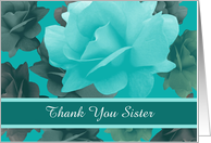 Thank You Custom Personalized Beautiful Vintage Style Roses card