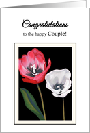 Congratulations Wedding Anniversary Tulips Side by Side Print card