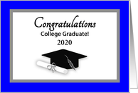 Graduation Custom Year 2020 College Grad Cap Diploma card