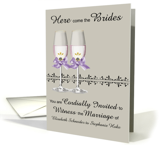 Invitations, Wedding, Lesbians, custom names, two... (1133734)