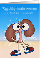 Anniversary of Kidney Transplant Custom Relationship and Name card