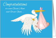 Congratulations on becoming Great Aunt and Great Uncle, great niece card