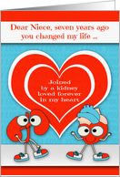 Thank you to Niece for Kidney Donation on the 7th Anniversary card