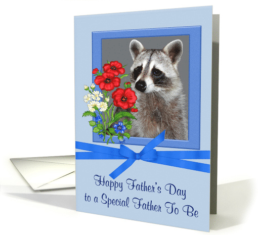 Father's Day to Father to Be A Portrait of a Raccoon in a... (925337)