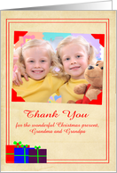 Thank You for the Christmas Present custom name photo card