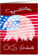Congratulations, OCS Graduate, Bald Eagle on American flag card