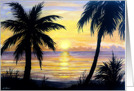 Tropical Sunset card