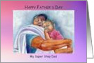 Happy Father's Day, Step Dad, African American daughter, Thanks card