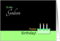 Happy Birthday Godson - Cake and Candles card