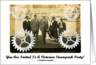 You Are Invited To A Victorian Steampunk Party! (Gears) card