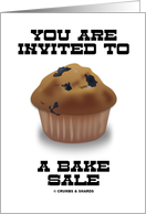 You Are Invited To A Bake Sale (Blueberry Muffin) card