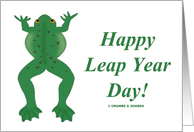 Happy Leap Year Day! (Green Jumping Frog) card